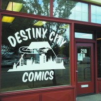 COURTESY OF DESTINY CITY COMICS The shop is located on 218 Saint Helens Avenue, a short walk or drive from UWT.