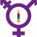 The transgender symbol with a rainbow candle in the middle, meant to honor those who have been affected or even killed by transphobic violence. Illustration by Felicia Chang