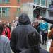 Dr. Adam West addresses the crowd regarding diversity in UW Photo by Allison Pham
