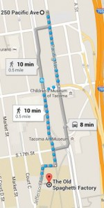 Route to New Spaghetti Factory