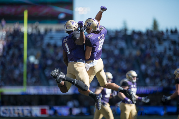 UW's wide receiver Dante Pettis breaks records