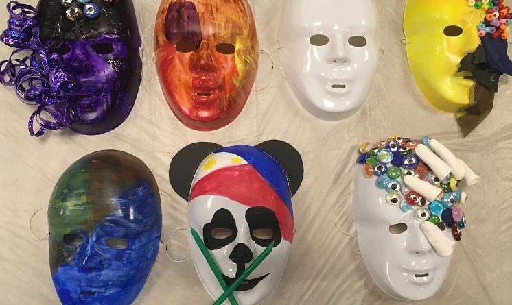 Students explore who they are through Identity Mask Art Workshop